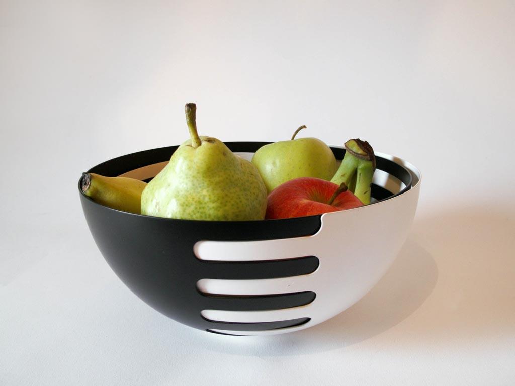Eclipse Interlocking Fruit Bowls Black X White More