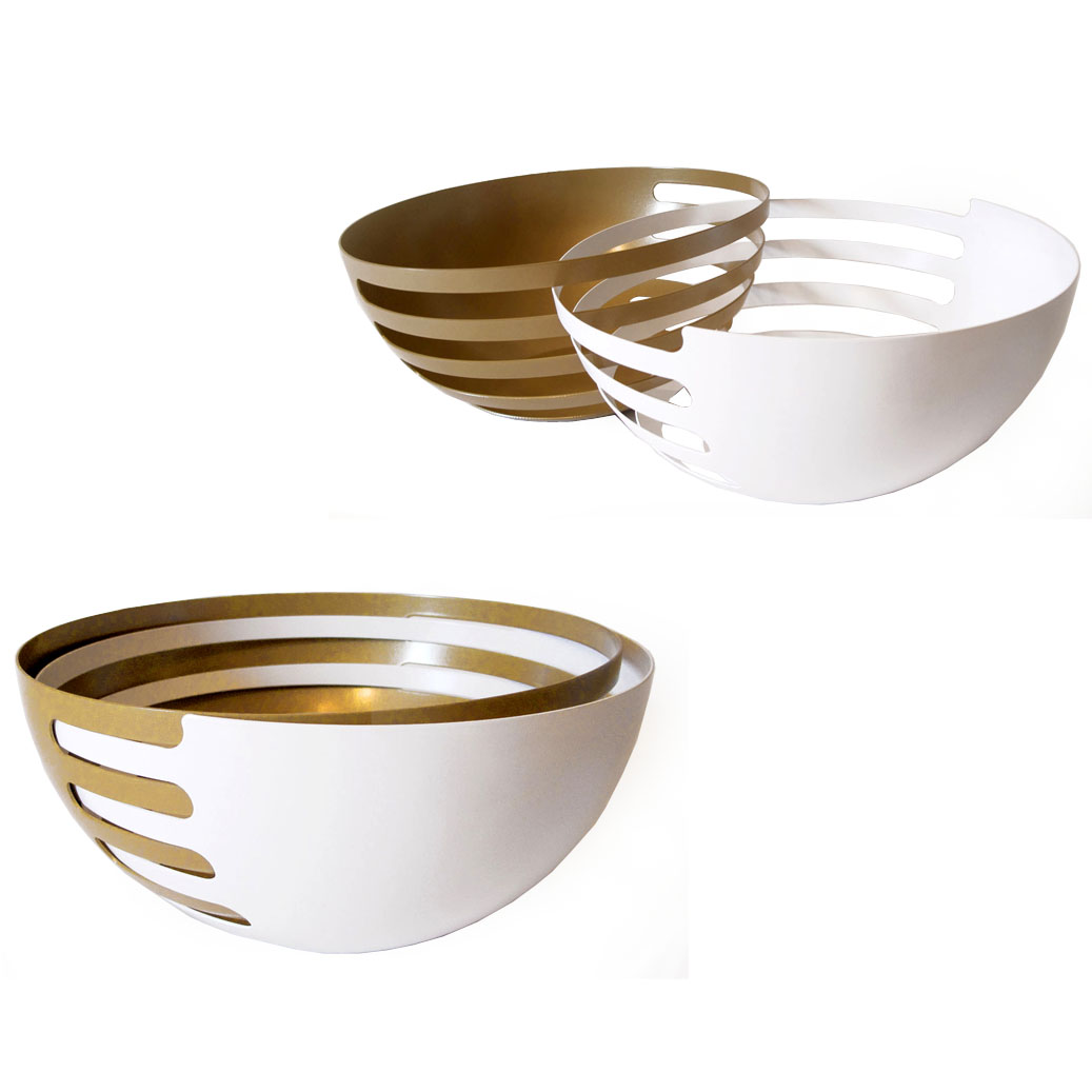 ECLIPSE U2013 Interlocking Fruit Bowls ORO X WHITE Amazing Pictures
